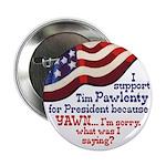 Tim Pawlenty Yawn political campaign button