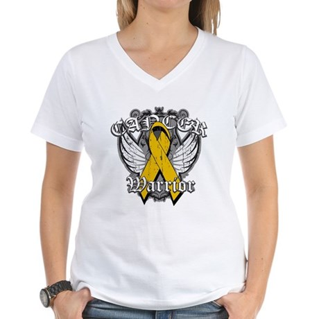 Appendix Cancer Warrior Women's V-Neck T-Shirt
