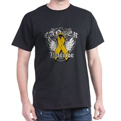 Appendix Cancer Warrior Dark T-Shirt