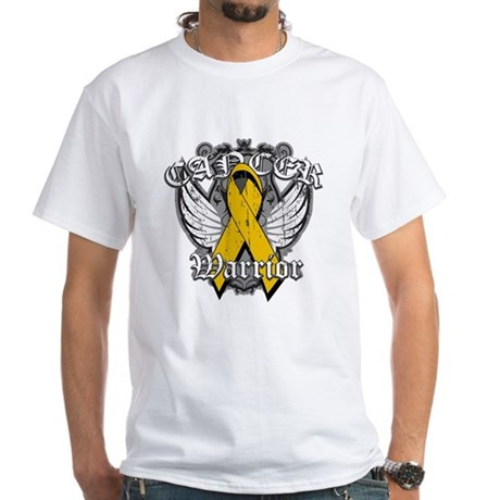 Appendix Cancer Warrior White T-Shirt