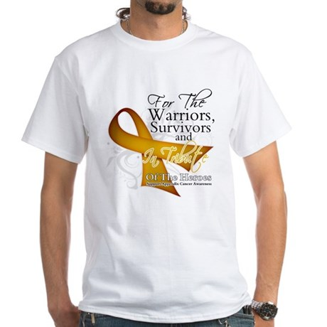 In Tribute Appendix Cancer White T-Shirt
