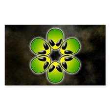 green alien flower power Decal