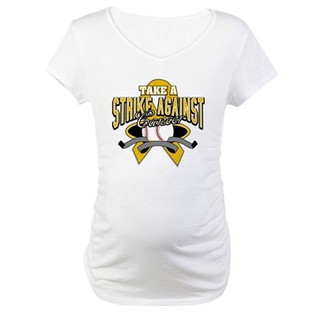 Take Strike Appendix Cancer Maternity T-Shirt