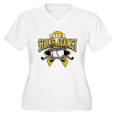 Take Strike Appendix Cancer Women's Plus Size V-Ne