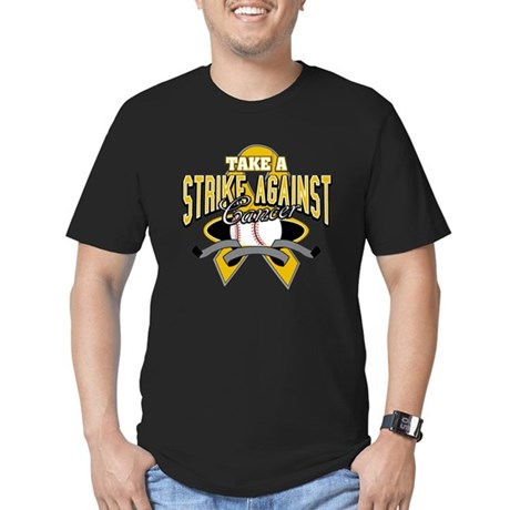 Take Strike Appendix Cancer Men's Fitted T-Shirt (