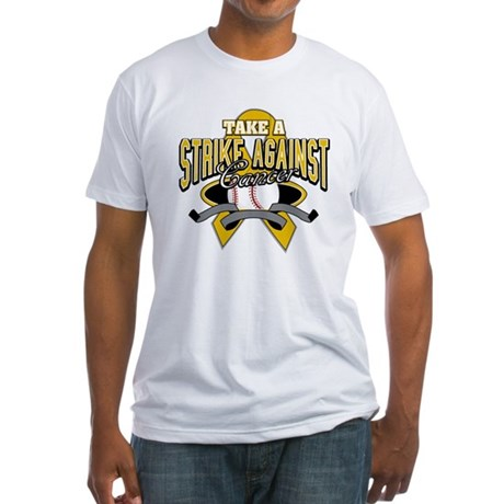 Take Strike Appendix Cancer Fitted T-Shirt