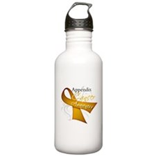 Awareness Appendix Cancer Water Bottle