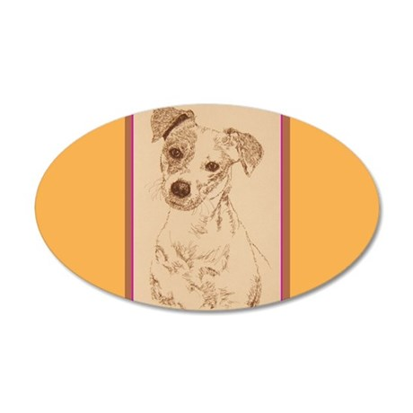 Jack Russell Terrier Smooth 38.5 x 24.5 Oval Wall