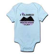 I Climbed MOUNT EVANS 14,264' Infant Bodysuit