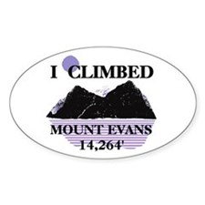 I Climbed MOUNT EVANS 14,264' Decal