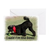 I'm the Boss Greeting Card