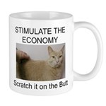 Scratch the economy on the bu Mug