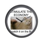 Scratch the economy on the bu Wall Clock