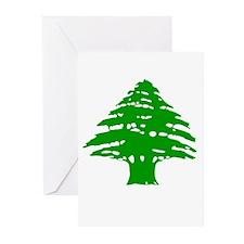 Green Cedar Tree Greeting Cards (Pk of 10)