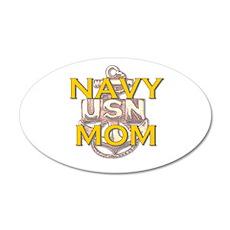 navy mom 38.5 x 24.5 Oval Wall Peel