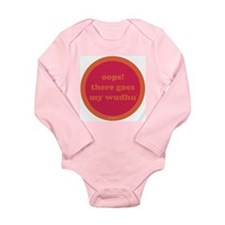 Wudhu Long Sleeve Infant Bodysuit (fuschia+orange)