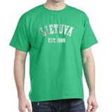 Distressed Lietuva Est. 1009 T-Shirt