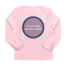 MaShaAllah Long Sleeve Infant T-Shirt (purple)