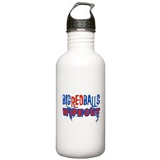 Big Red Balls Wipeout Stainless Water Bottle 1.0L
