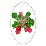 My First St. Patrick's Day Cute Sticker (Oval 50 p