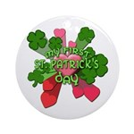 My First St. Patrick's Day Cute Ornament (Round)