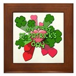My First St. Patrick's Day Cute Framed Tile