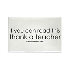 Thank a Teacher Rectangle Magnet
