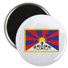 "Tibet Flag 2.25"" Magnet (10 pack)"