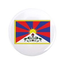 "Tibet Flag 3.5"" Button"