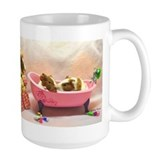 Baby Pig Bath Time Ceramic Mugs