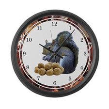 Squirrel Lover Large Wall Clock