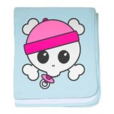 Baby Girl Skully baby blanket