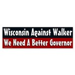 Wisconsin Against Walker bumper sticker