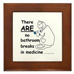 Bathroom Breaks? HA! Framed Tile