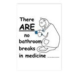 Bathroom Breaks? HA! Postcards (Package of 8)