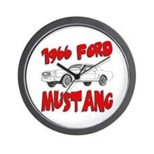 1966 Ford Mustang Wall Clock
