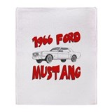 1966 Ford Mustang Throw Blanket