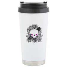 Hairdresser Pirate Skull Ceramic Travel Mug