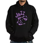 Jazz Electric Bass Purple Hoodie (dark)