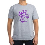 Jazz Electric Bass Purple Men's Fitted T-Shirt (da