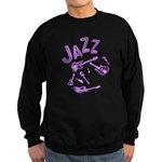 Jazz Electric Bass Purple Sweatshirt (dark)