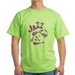 Jazz Electric Bass Purple Green T-Shirt
