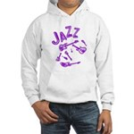 Jazz Electric Bass Purple Hooded Sweatshirt
