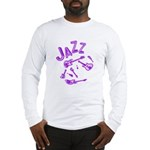 Jazz Electric Bass Purple Long Sleeve T-Shirt