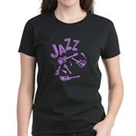 Jazz Electric Bass Purple Women's Dark T-Shirt