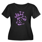 Jazz Electric Bass Purple Women's Plus Size Scoop