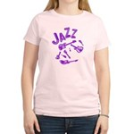 Jazz Electric Bass Purple Women's Light T-Shirt