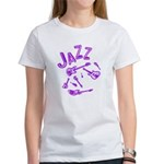 Jazz Electric Bass Purple Women's T-Shirt