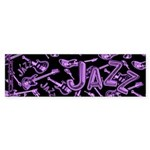 Jazz Electric Bass Purple Sticker (Bumper 50 pk)