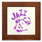 Jazz Electric Bass Purple Framed Tile